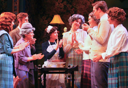 The citizens of Chipping Cleghorn work together to solve the mystery in