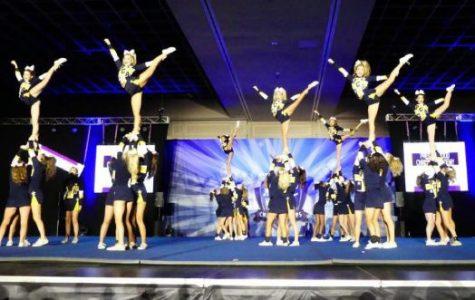 The Comp Cheer team shines on the mat at the FCC National Championship. The team brought home the Grand Championship and four specialty awards. They went on to win their ninth NCA  National Championship later that month.