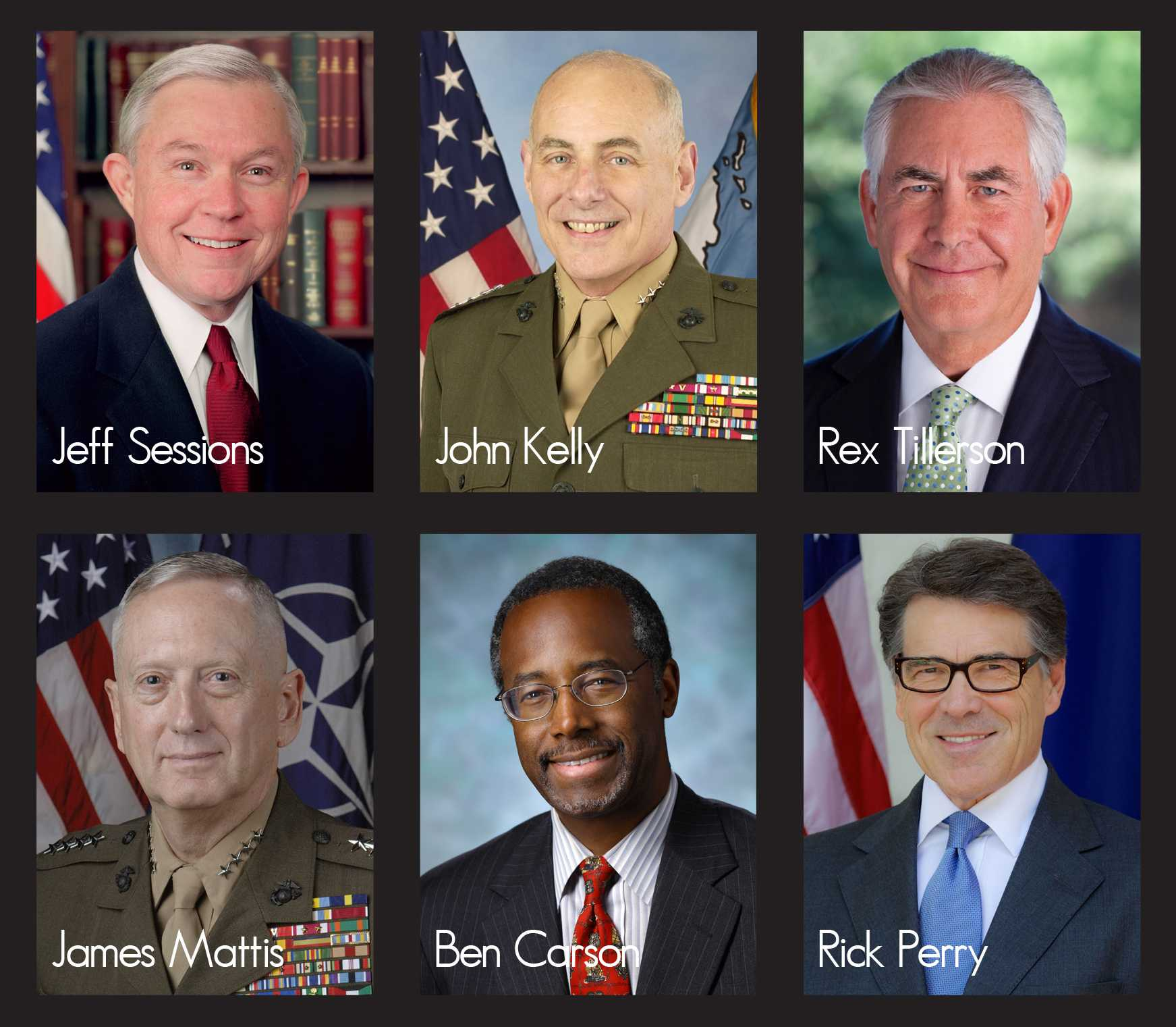 Members of President Donald Trump's proposed cabinet