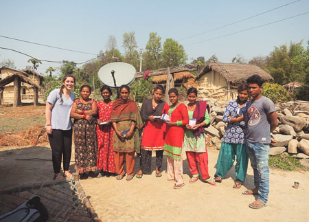 While in Southeast Asia, Junior Courtney Villa shared Christ with those of Hindu faith. A teenage boy there told her,