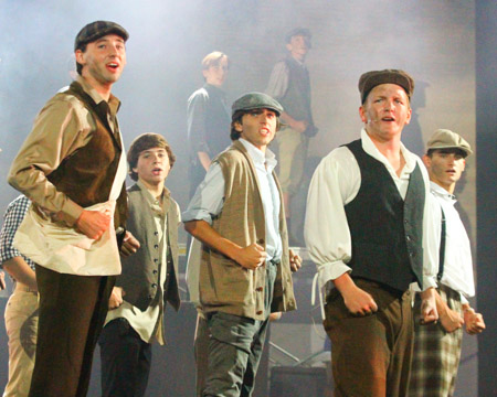 A powerful Newsies performance closes Fall Follies. Senior Jeremy Miller, Freshman Reed Wilson, and Seniors Cody Morris, Thomas Sherman and Jacob Florsheim were part of the all-male cast of that number.
